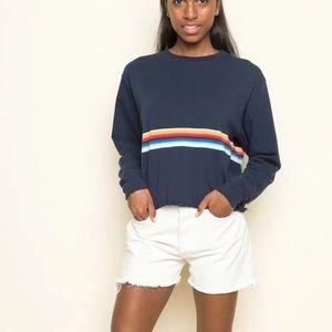 4/$25 Brandy Melville Rainbow crop sweatshirt